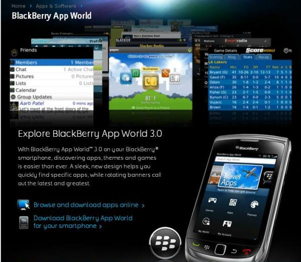 Blackberry app world rencontre des problemes de connection au serveur